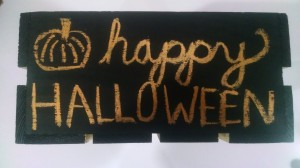 """Go crazy with the chalk! Write whatever. It's especially convenient to write candy limits - """"Two pieces per person""""."""