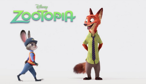 Officer Judy Hopps and Nick Wilde, best friends and crime fighting partners from the Disney movie Zootopia. Image courtesy Disney.